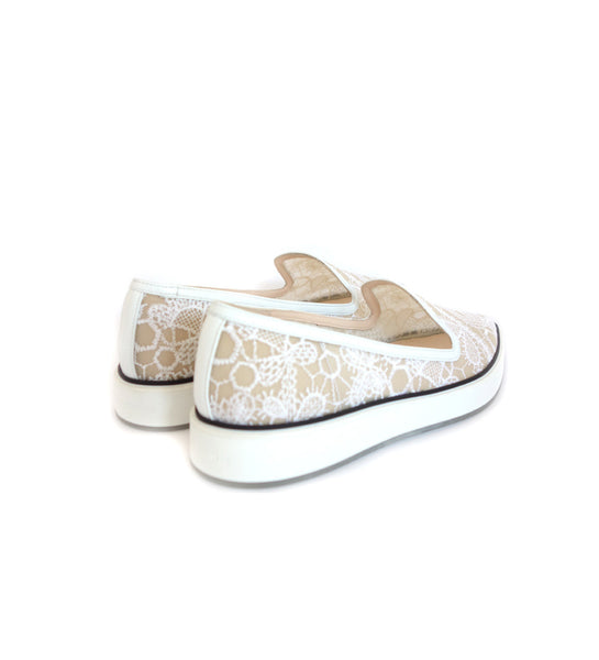 25mm Alona Rubbersole - White