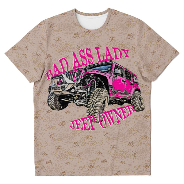 Bad Ass Lady Jeep Owner - Pink and Desert Camo