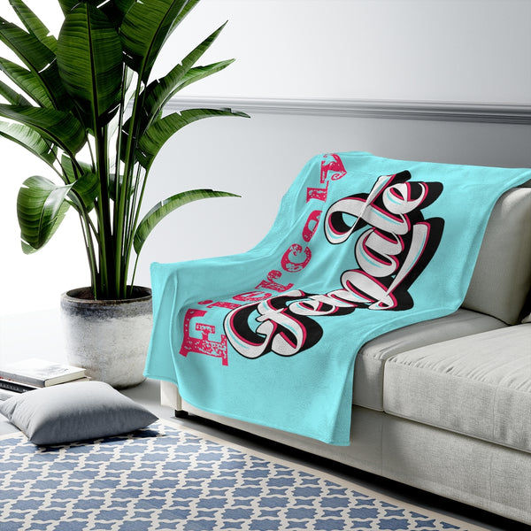 Velveteen Plush Blanket - Fiercely Female
