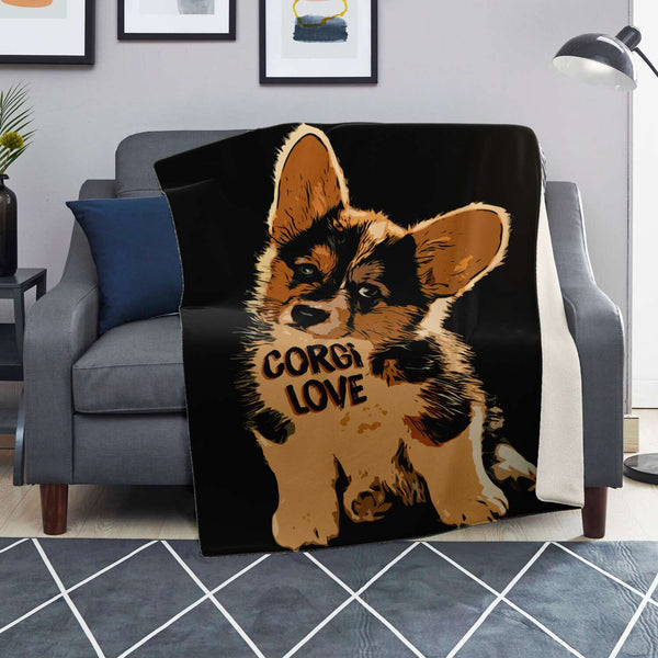 Corgi Love - Premium Fleece Blanket