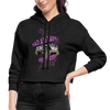Women's Cropped Hoodie - Bad Ass Lady Jeep Owner - deep heather