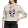 Women's Cropped Hoodie - Bad Ass Lady Jeep Owner - dust