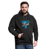 Contrast Hoodie - Always Be Kind - Blue - black/asphalt