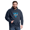 Contrast Hoodie - Always Be Kind - Blue - indigo heather/asphalt