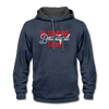 Contrast Hoodie - Be Someone Beautiful Today Red-White - indigo heather/asphalt