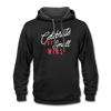 Contrast Hoodie - Celebrate Your Small Wins White-Red