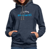 Contrast Hoodie - Problems Are Opportunities White-Blue - indigo heather/asphalt