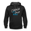 Contrast Hoodie - Celebrate Your Small Wins White-Blue - black/asphalt
