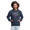 Contrast Hoodie - Celebrate Your Small Wins White-Pink - indigo heather/asphalt