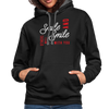 Contrast Hoodie - Smile And Others Will Smile With You White-Red - black/asphalt
