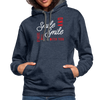 Contrast Hoodie - Smile And Others Will Smile With You White-Red - indigo heather/asphalt