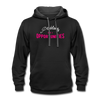 Contrast Hoodie - Problems Are Opportunities White-Pink - black/asphalt