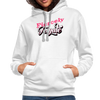 Contrast Hoodie - Fiercely Female - white/gray