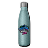 Insulated Stainless Steel Water Bottle - Badass Lady Jeep Owner Silver-Pink - turquoise glitter