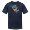Unisex Jersey T-Shirt - Badass Lady Jeep Owner (Orange Jeep) - navy