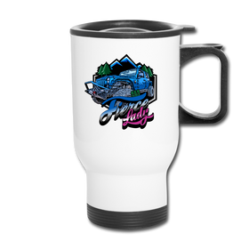 Travel Mug - Fierce Lady 4X4 Owner - Blue Jeep