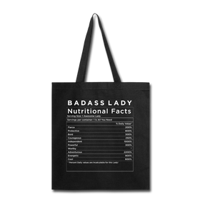 Tote Bag - Badass Lady Nutritional Info