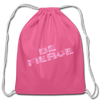 Cotton Drawstring Bag - Be Fierce in Pink Camo