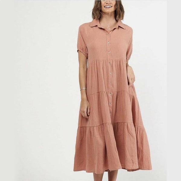 Elle Dress Terracotta