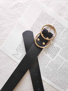 Gold Hoop Belt- Black