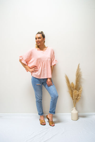 Joop & Gypsy Ruffle Top - soft pink