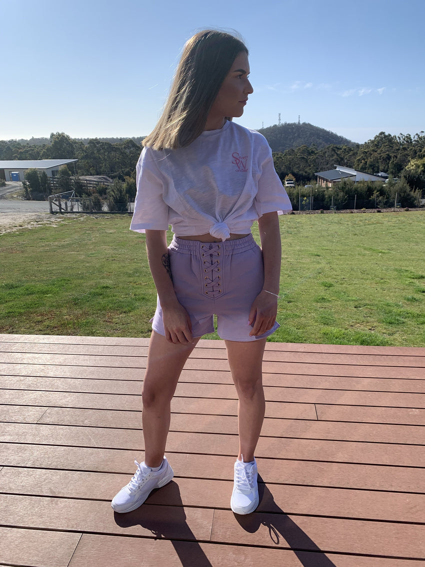 Runaway the Label Lilac Middy Shorts