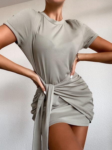 Winnie Shirt Dress- Sage