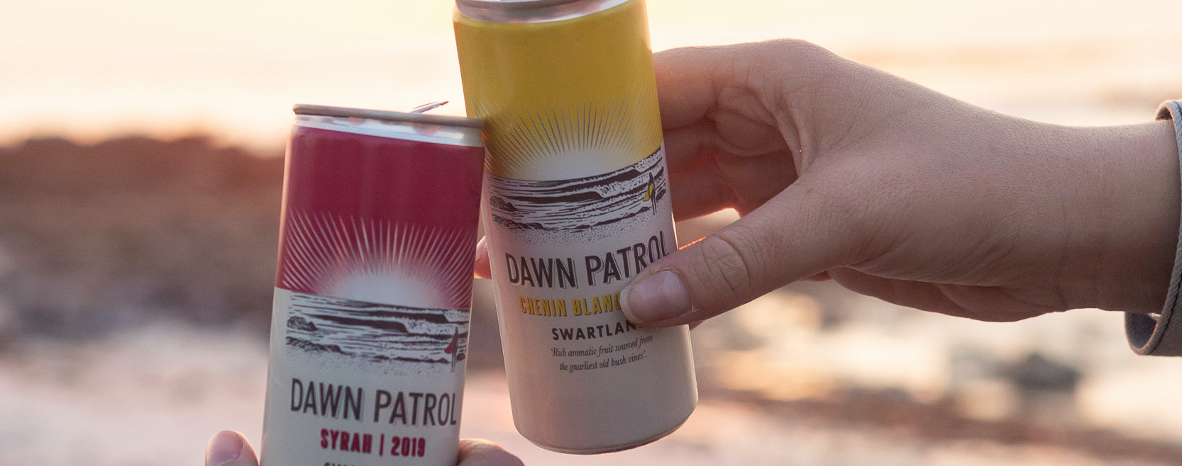 Dawn Patrol in a can perfect for sundowners