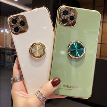 Load image into Gallery viewer, 3D Opal Ring buckle support soft phone case