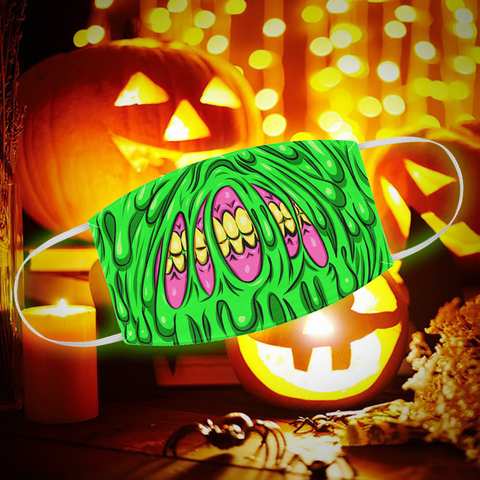 the best halloween slime cloth face mask from silver shamrock