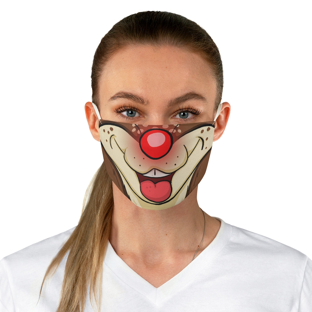 Buy Online Cool & Trendy Silver Shamrock Rudolph The Red Nosed Reindeer Adult Face Mask - Silver Shamrock