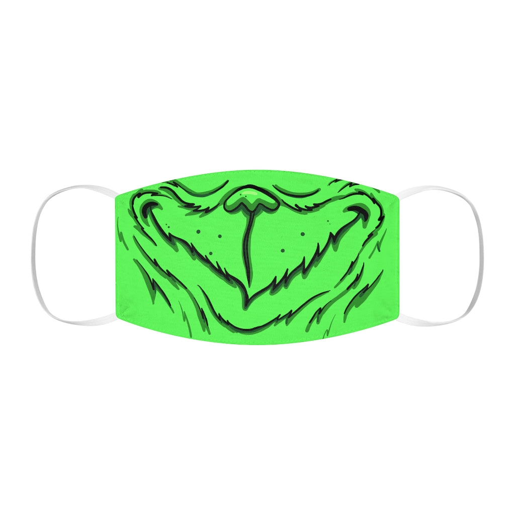 Buy Online Cool & Trendy Silver Shamrock Snug Fit Grinch Face Mask - Silver Shamrock