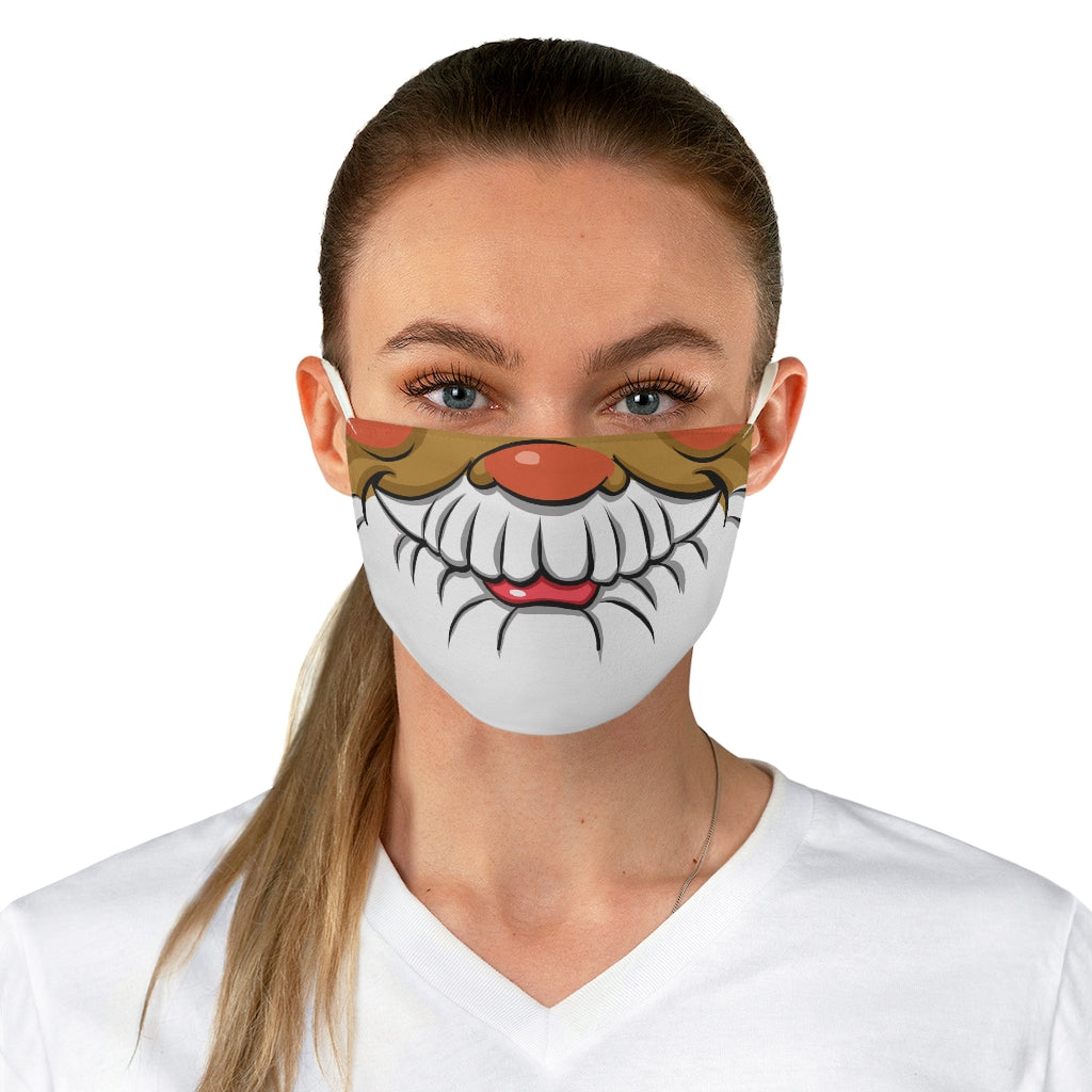 Buy Online Cool & Trendy Silver Shamrock Santa Adult Face Mask (color option 3) - Silver Shamrock