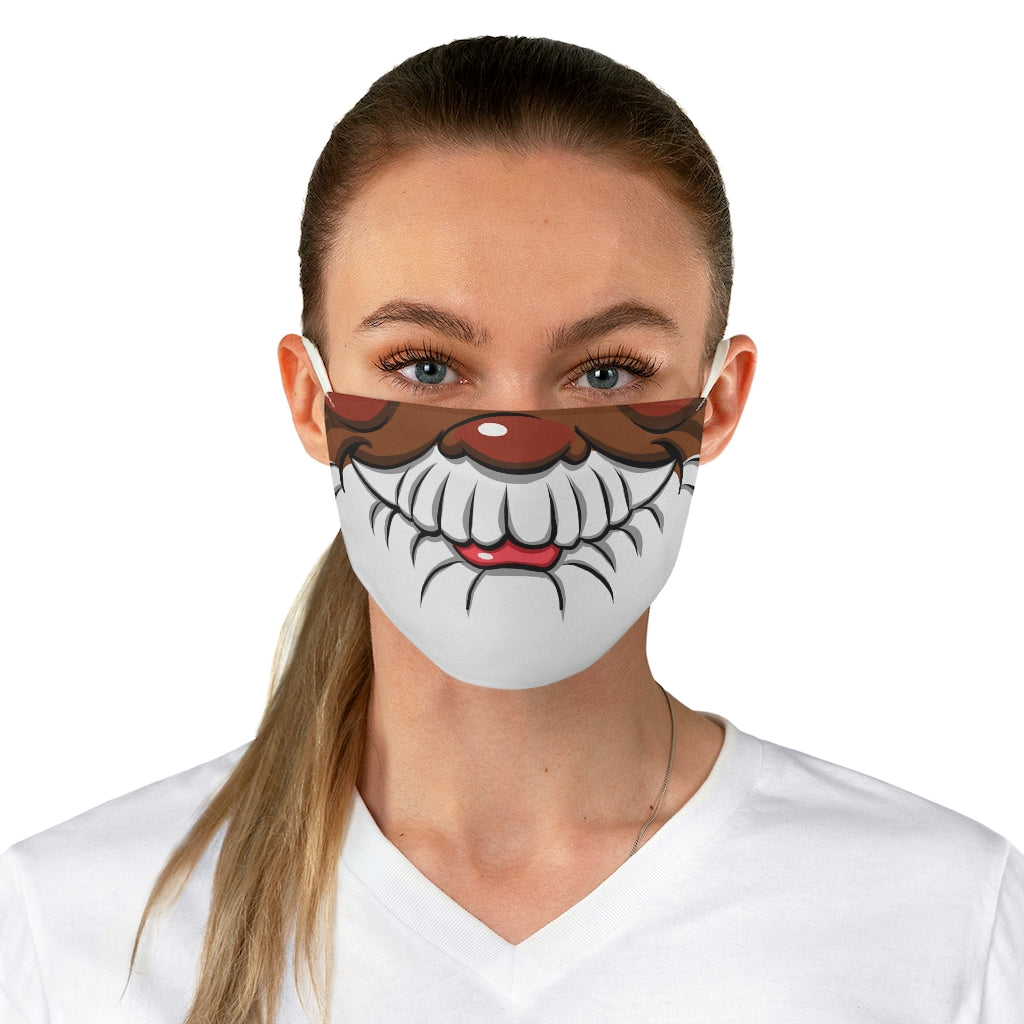 Buy Online Cool & Trendy Silver Shamrock Santa Adult Face Mask (color option 2) - Silver Shamrock