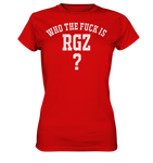Who the fuck is RGZ? - Ladies Premium Shirt