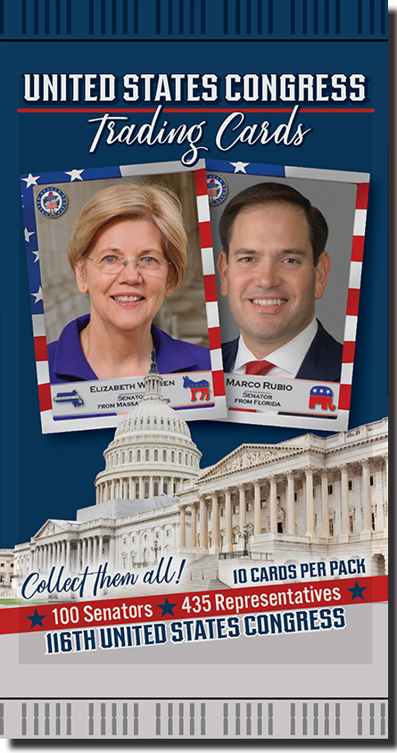 1 Pack of United States Congress Trading Cards