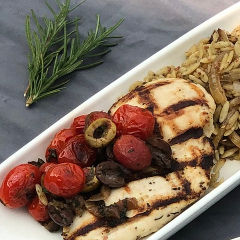 Mediterranean Grilled Breast of Chicken
