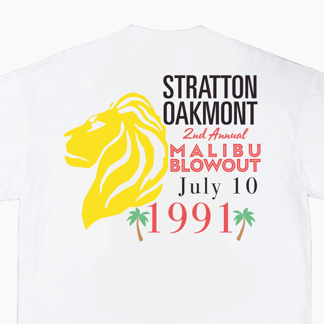 stratton oakmont malibu blowout, stratton oakmont shirt, stratton oakmont malibu party shirt, stratton oakmont party shirt, 1991 stratton oakmont