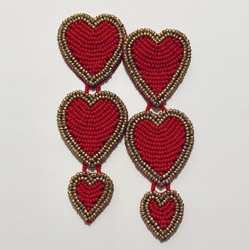 TRIPLE BEADED HEART