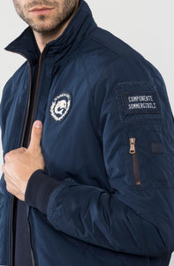 Marina Militare,Bomber With Detachable Windproof Jacket