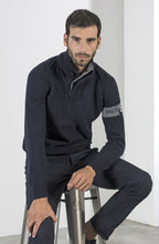 Load image into Gallery viewer, Marina Militare, Sailing Team Buttoned Mock Turtleneck