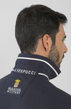 Load image into Gallery viewer, Marina Militare, Navy Long Sleeve  Polo Shirt