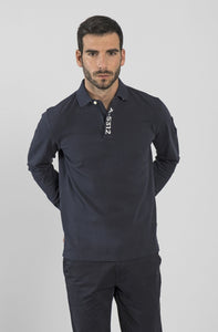 Marina Militare, Navy Long Sleeve  Polo Shirt