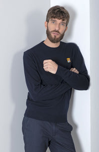 Marina Militare,Navy Crew Neck Sweater