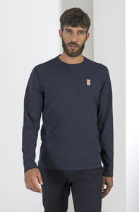 Marina Militare, Navy Basic Long Sleeve T-Shirt With Round Neck