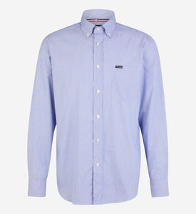 Façonnable,Blue Shirt With Milleraies Print