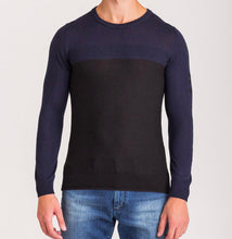 Load image into Gallery viewer, Ice Play, Navy Blue and Black sweater