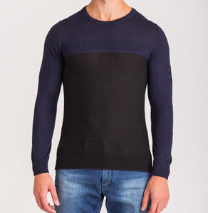 Ice Play, Navy Blue and Black sweater