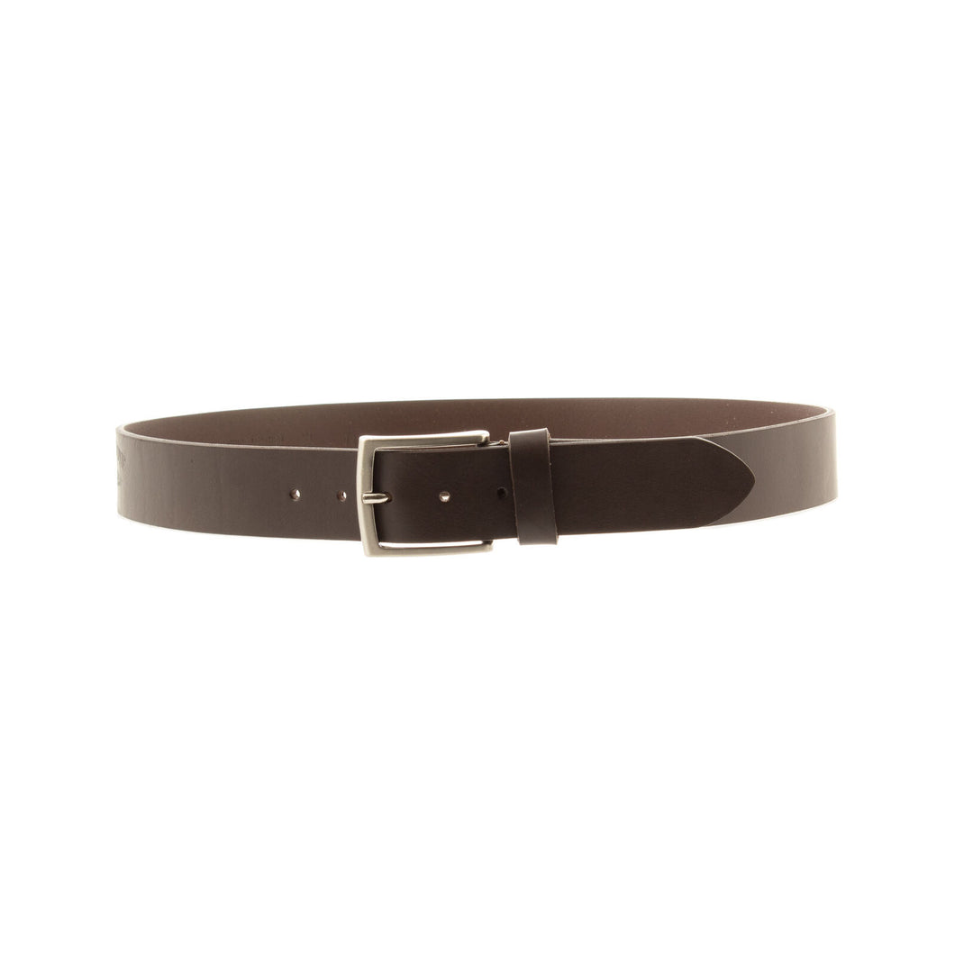 Marina Militare,Brown Plain Leather Belt