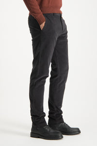 Mcgregor, Black Garmet Dyed Slim Fit Chino With Fine Cord